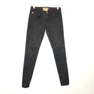 Dear John Velvet Print Skinny Pants